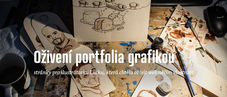Oživení portfolia grafikou, web pro ilustrátorku která chtěla oživit web něčím vlastním